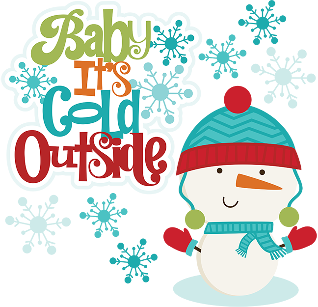 Free winter baby cliparts. Clipart snowman cold