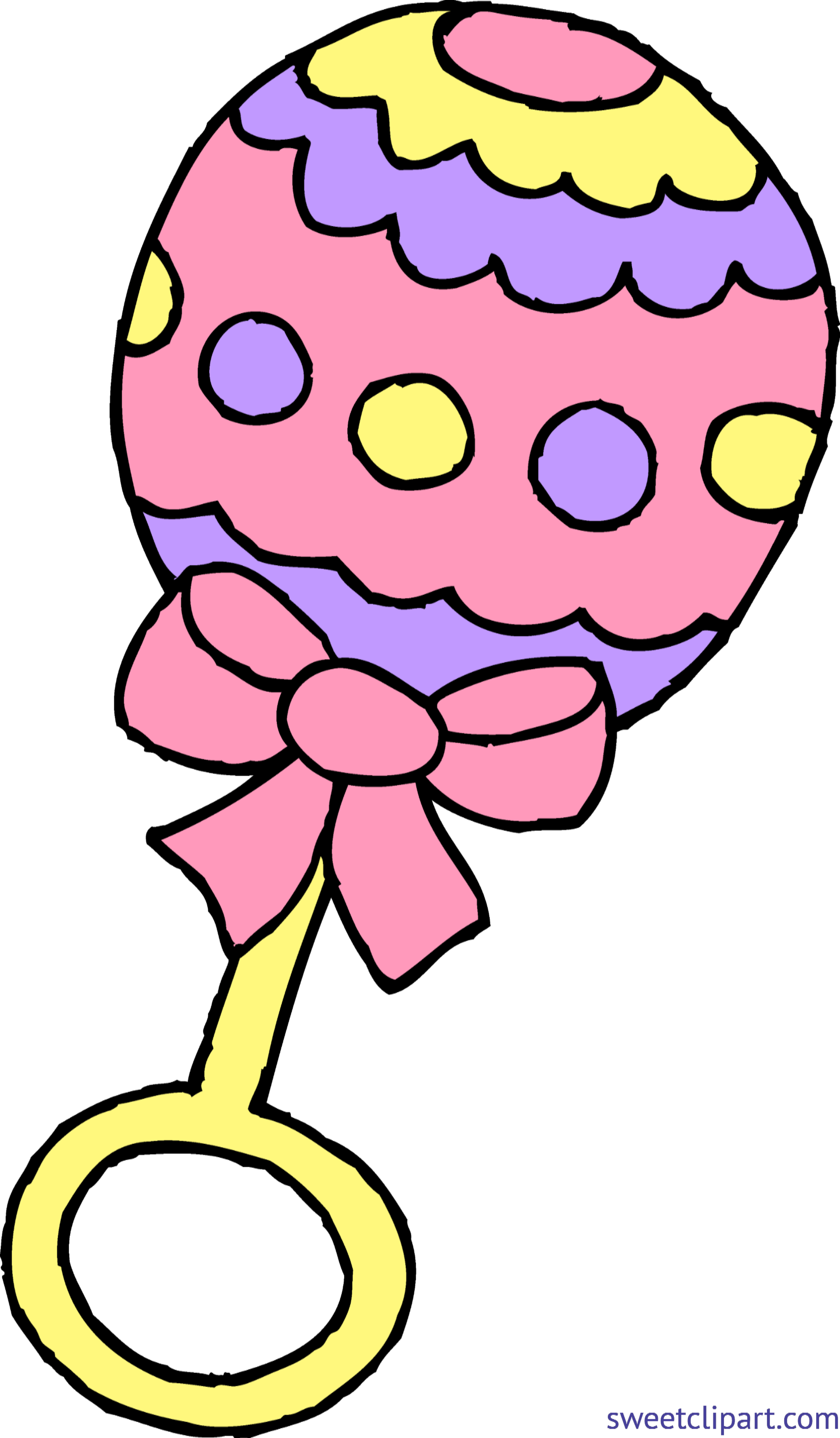 Rattle girl pink clip. Clipart smile baby