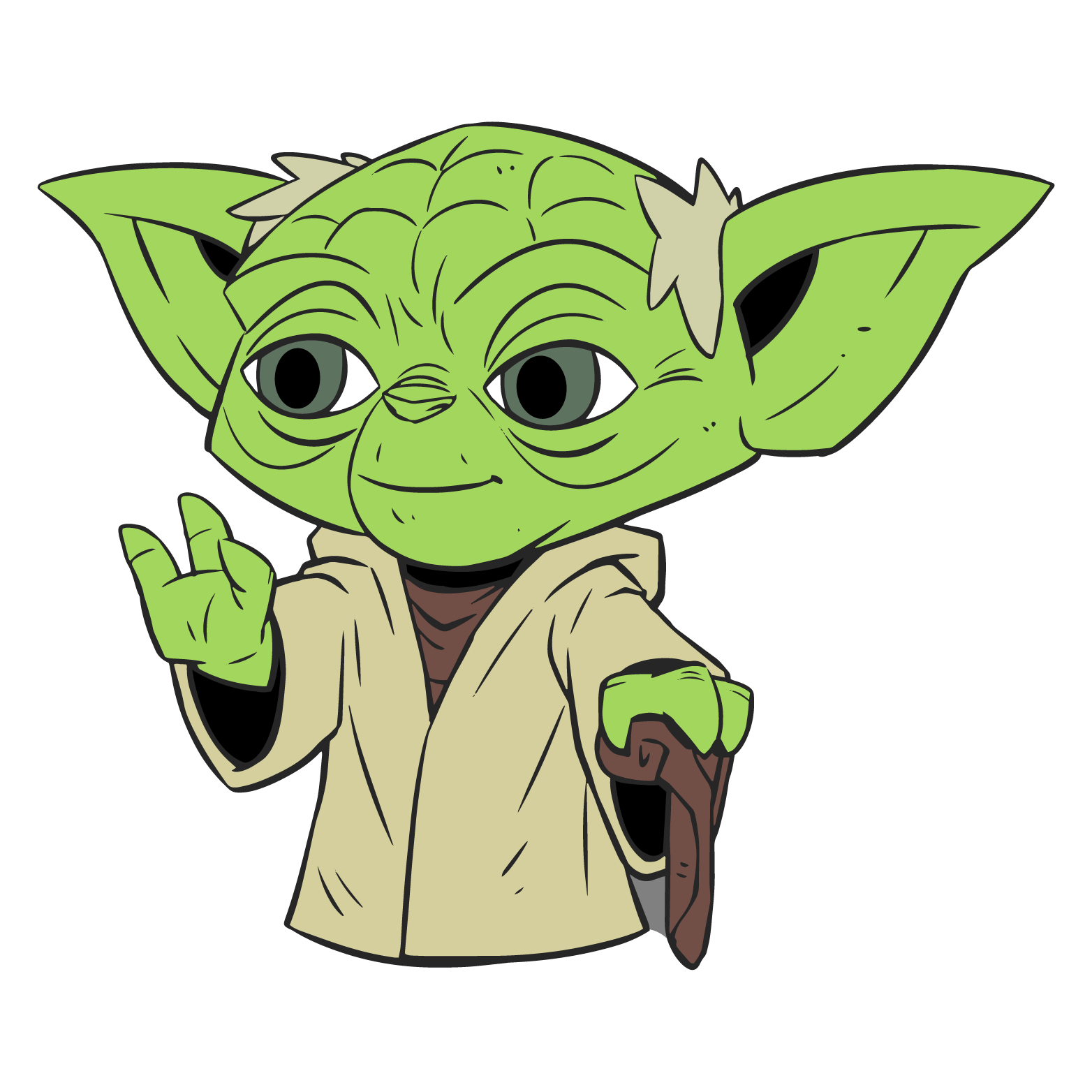 Starwars clipart cute. Of yoda at getdrawings