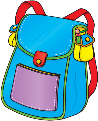 School panda free images. Clipart backpack