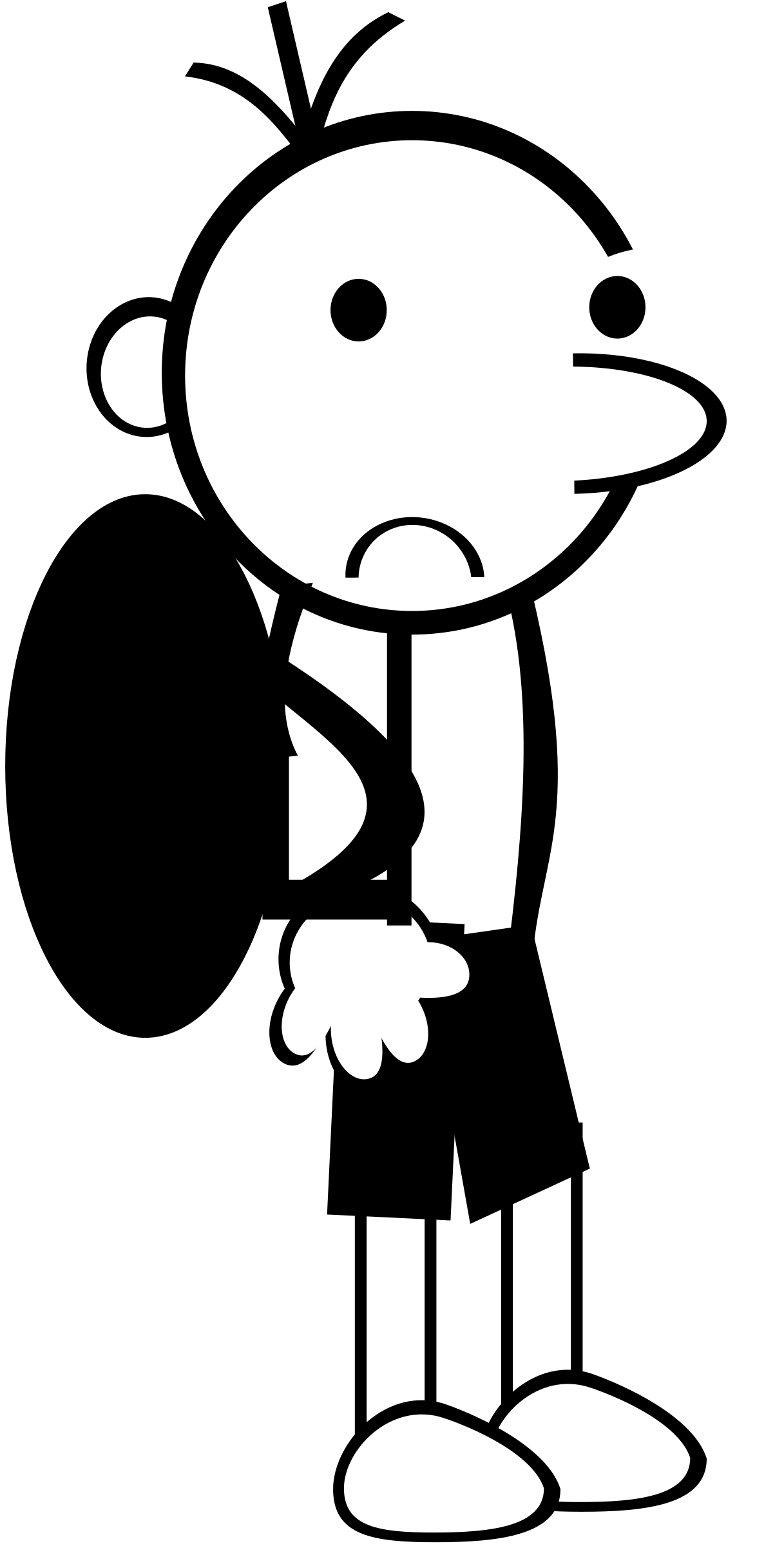 Wimpykid big image png. Student clipart stick figure