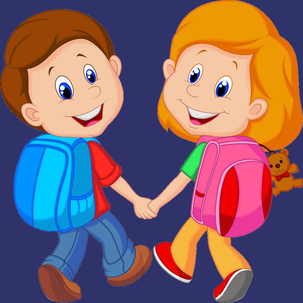 Child cartoon clip art. Clipart backpack animated