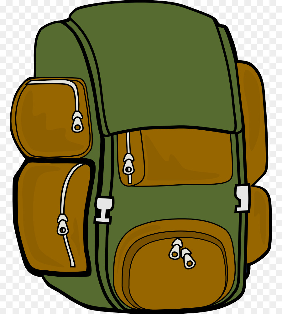Hiking clipart backpacker. Backpack cartoon transparent clip
