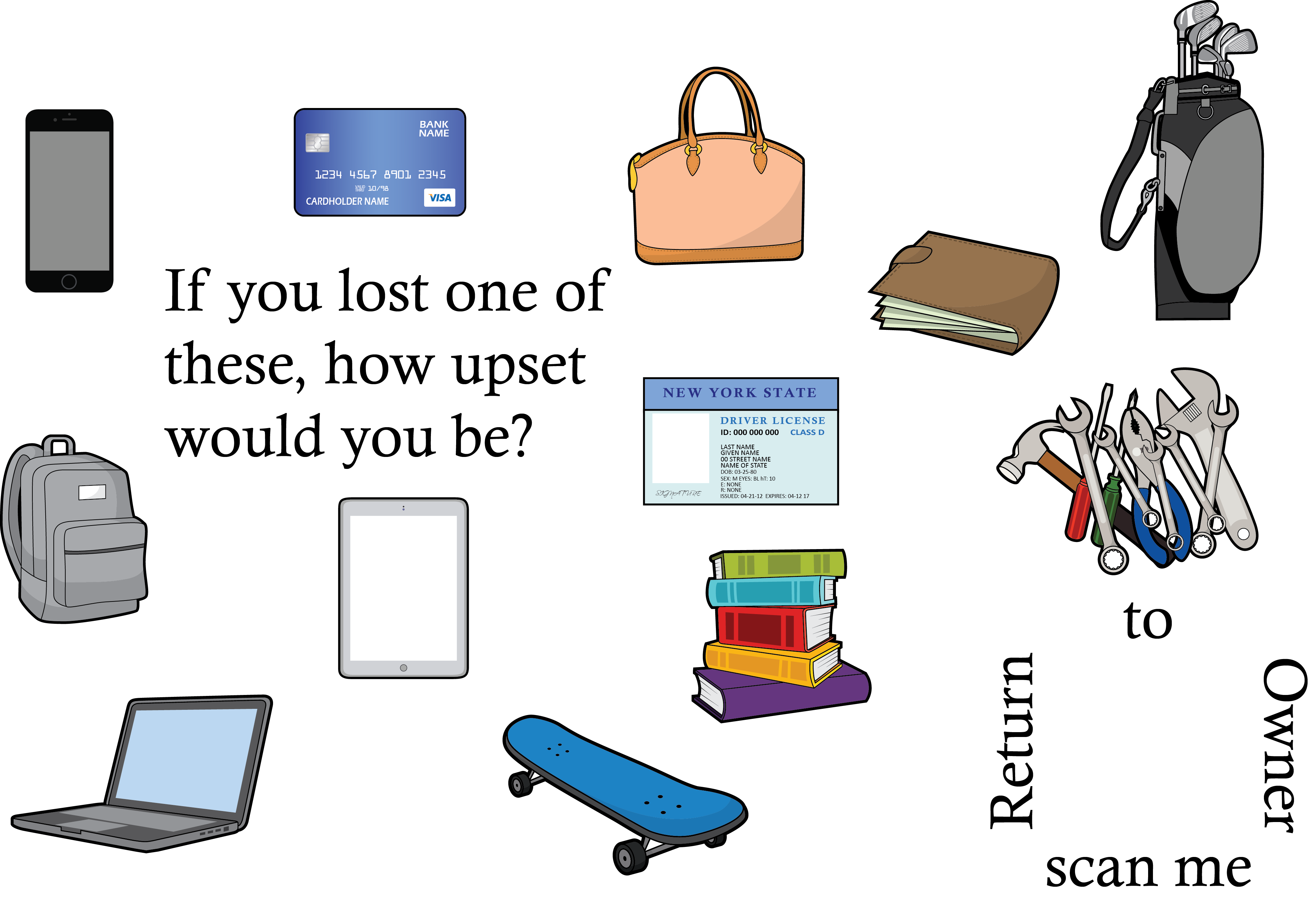 Clipart backpack belongings. Getting started bluetags bluetag