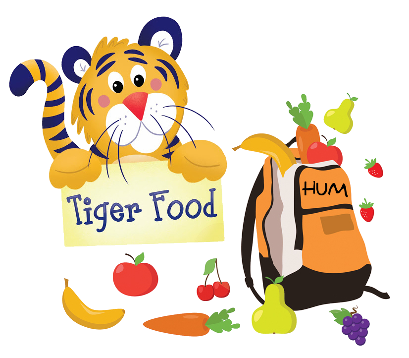 Preschool clipart food. Tiger howland umc backpack