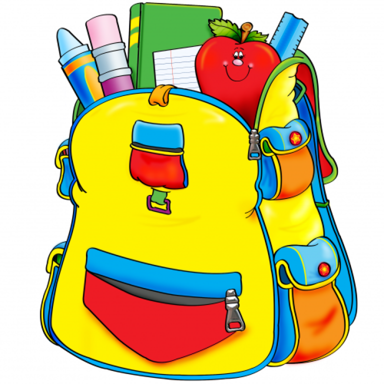 Clipart backpack blessing backpack. St damian church