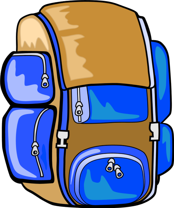 Stories from the south. Clipart backpack blue bag