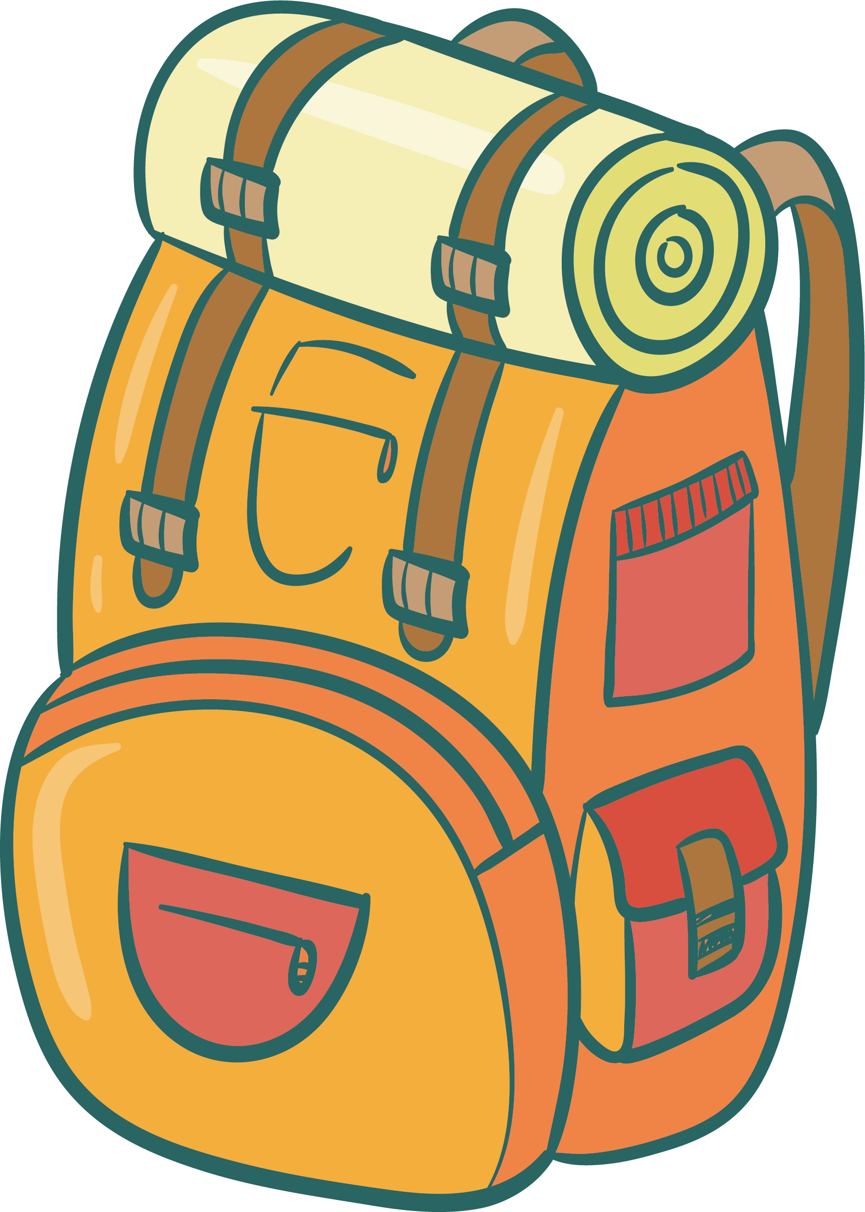 Clipart backpack blue bag. Travel clip art khaki