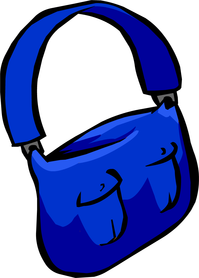 Mailbag club penguin rewritten. Clipart backpack blue item