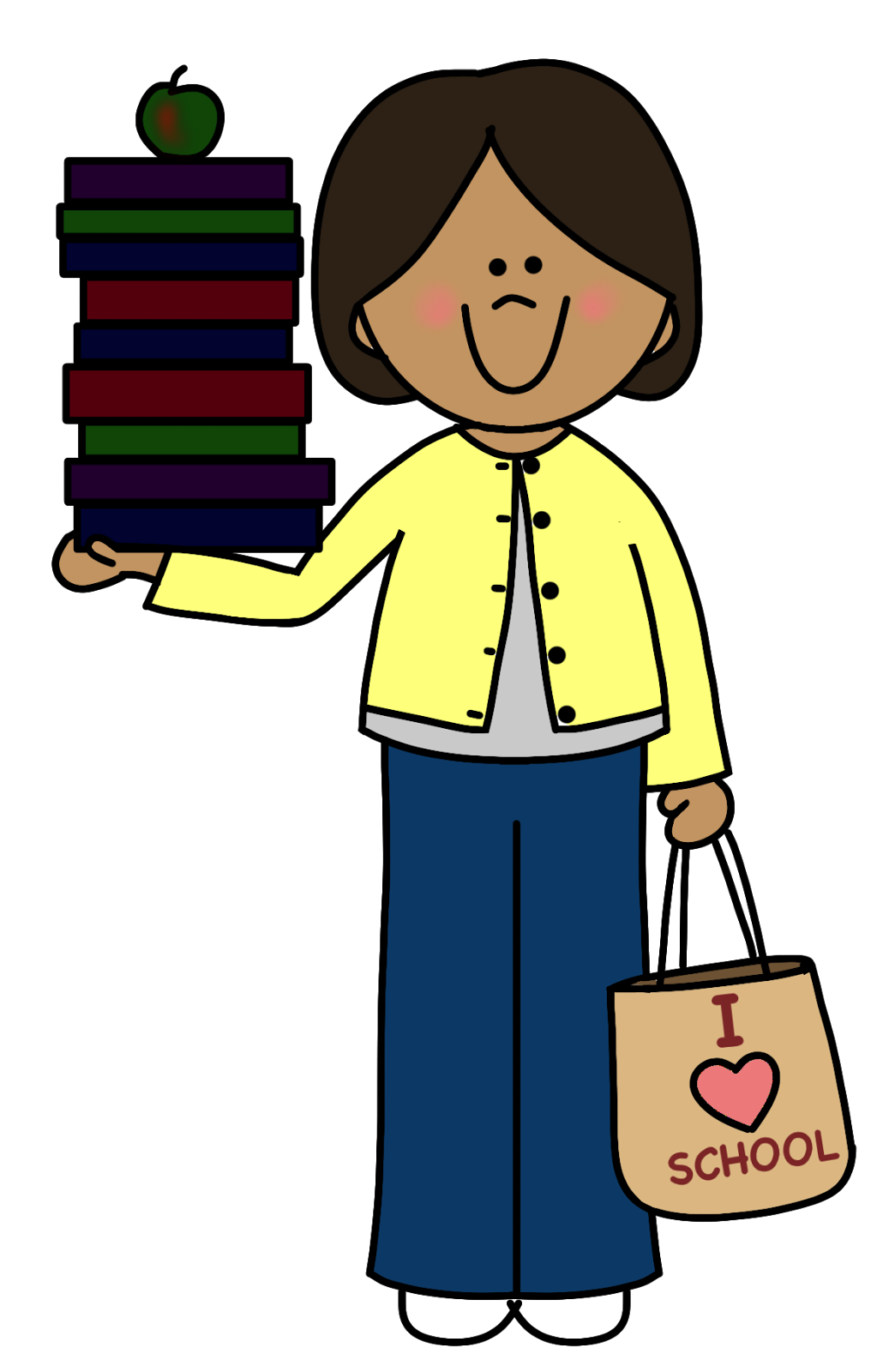 Clipart backpack child carrying. Kids learning image group