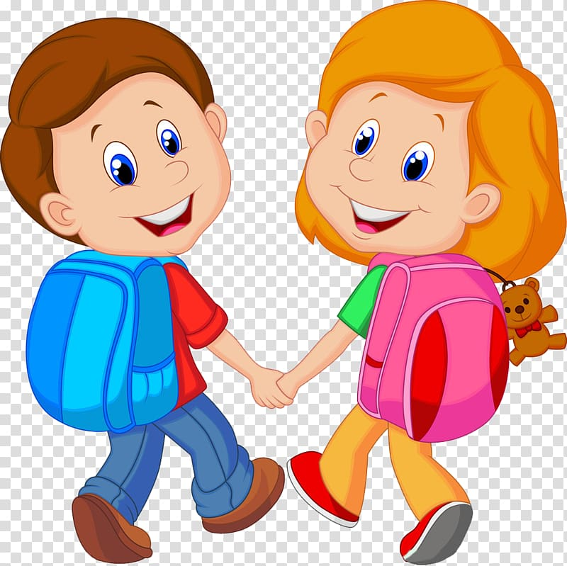 Friend clipart childhood friend. Boy and girl with