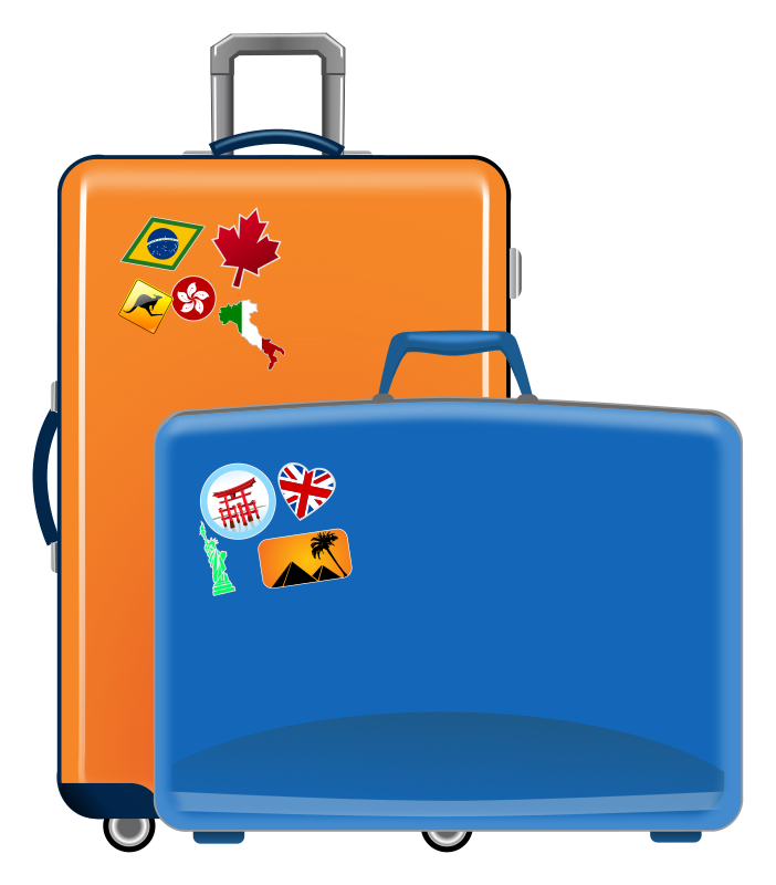 Clipart cars luggage. Travel clip art clipartix