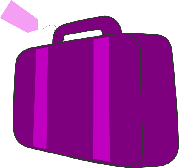 Purple Suitcase Clip Art at Clker