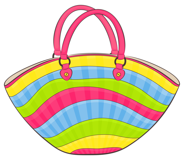Transparent beach bag png. Luggage clipart scrapbook