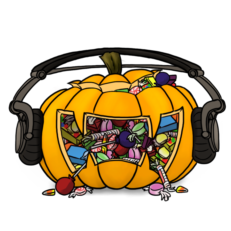 Monstercat jackolantern by petirep. Clipart backpack haversack