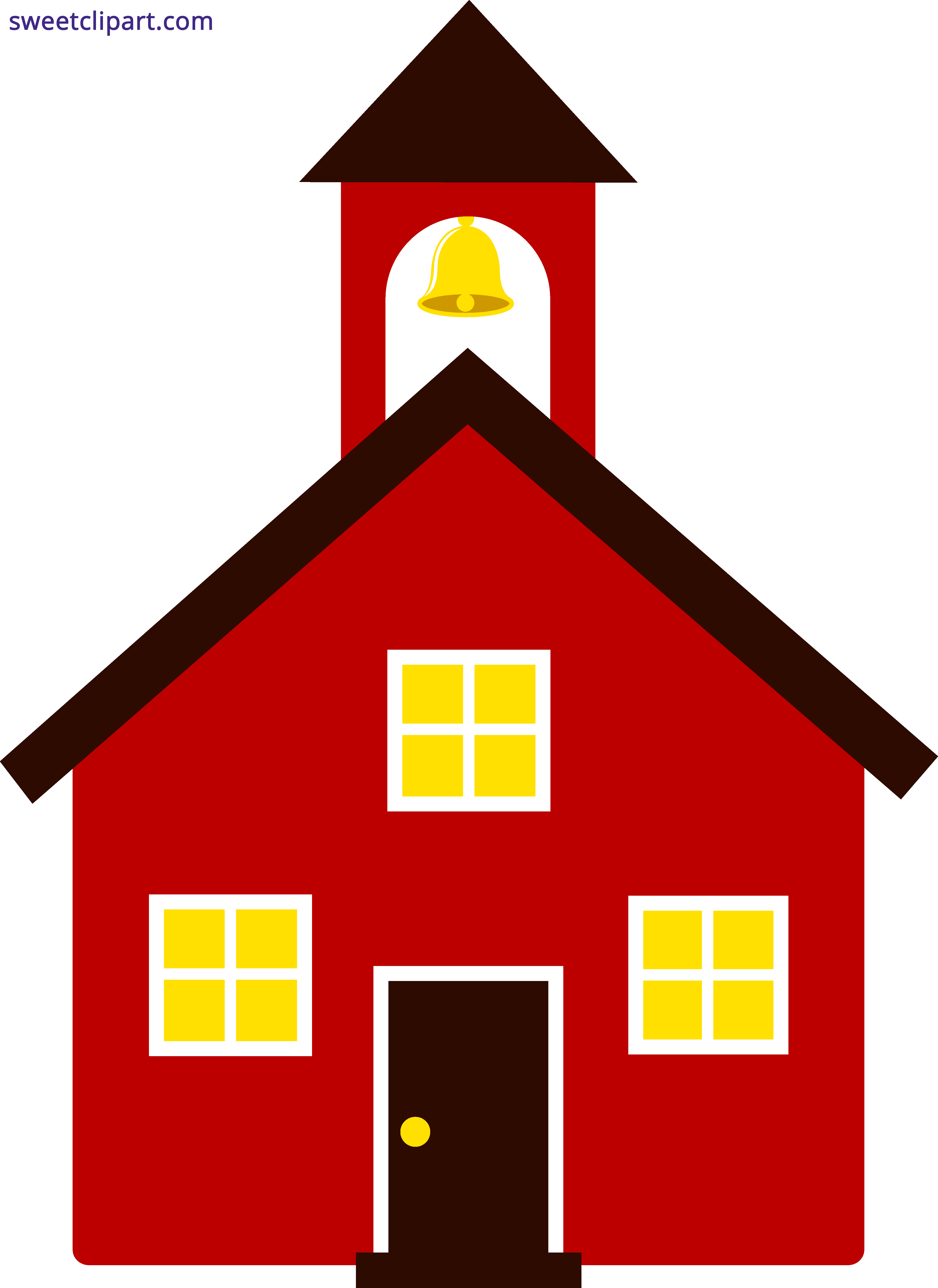 School house red sweet. Clipart home property