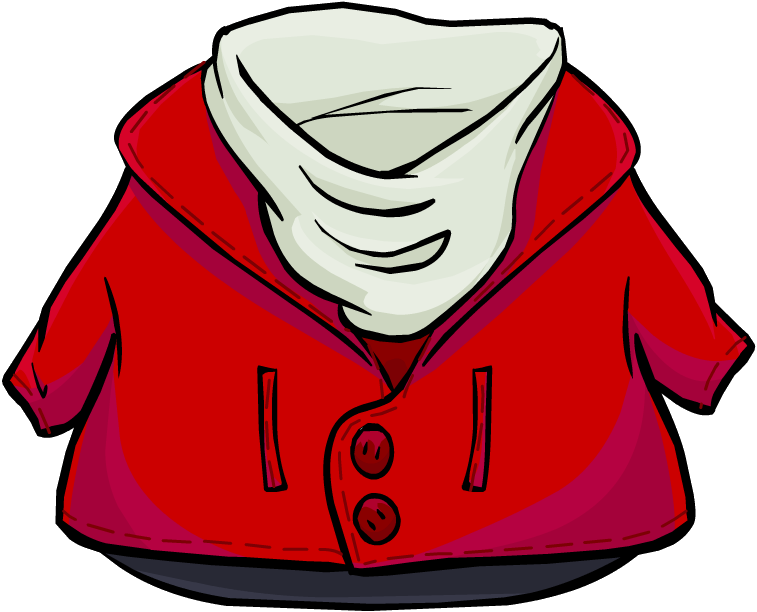 collection of red. Clipart coat hooded jacket