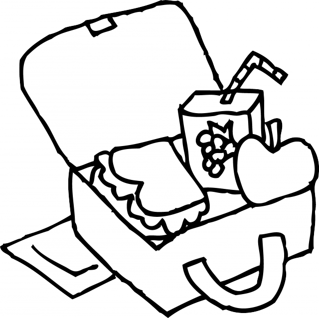 Lunchbox clipart lunch count. Box coloring page panda