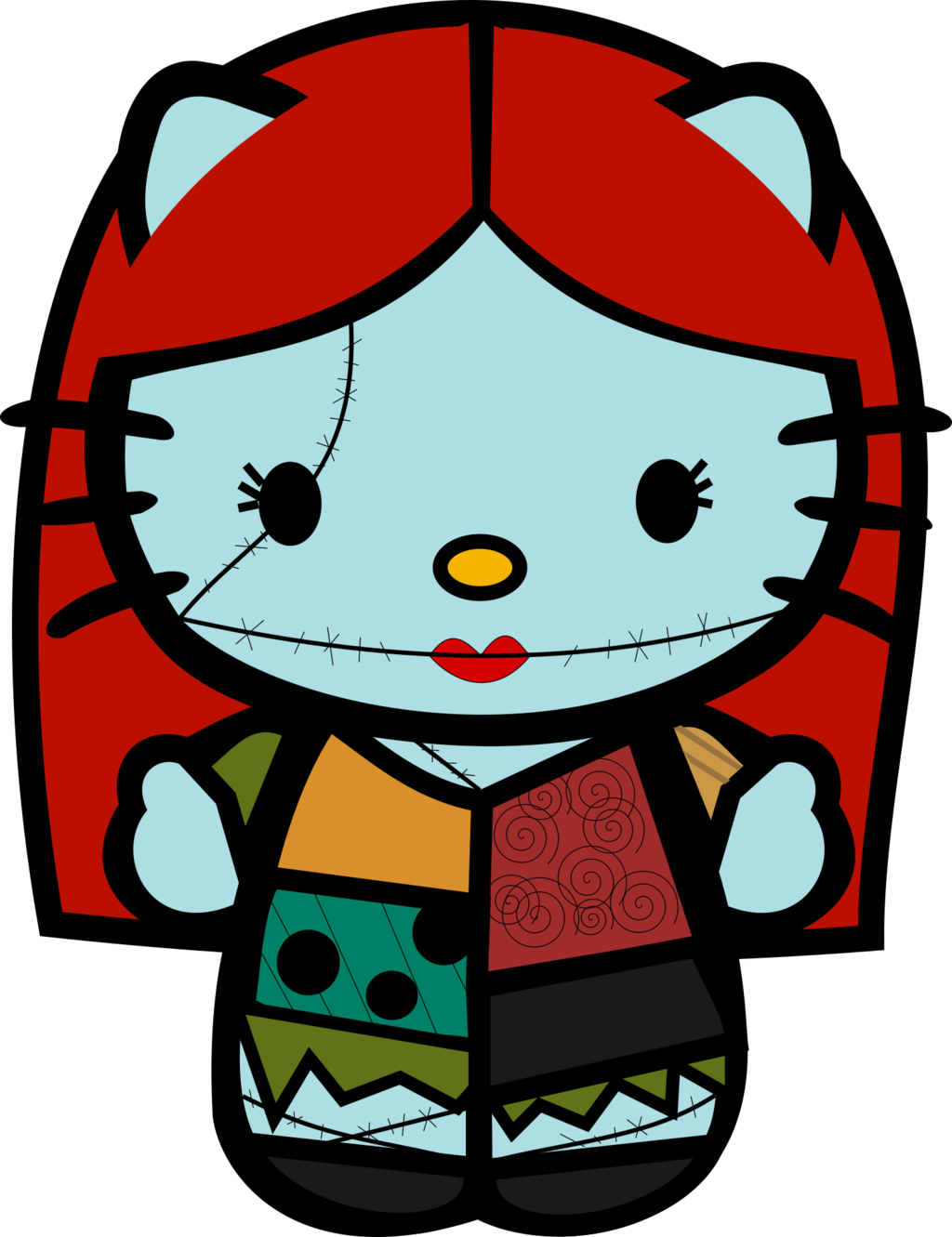 Hello kitty pinterest and. Stitch clipart frankenstein