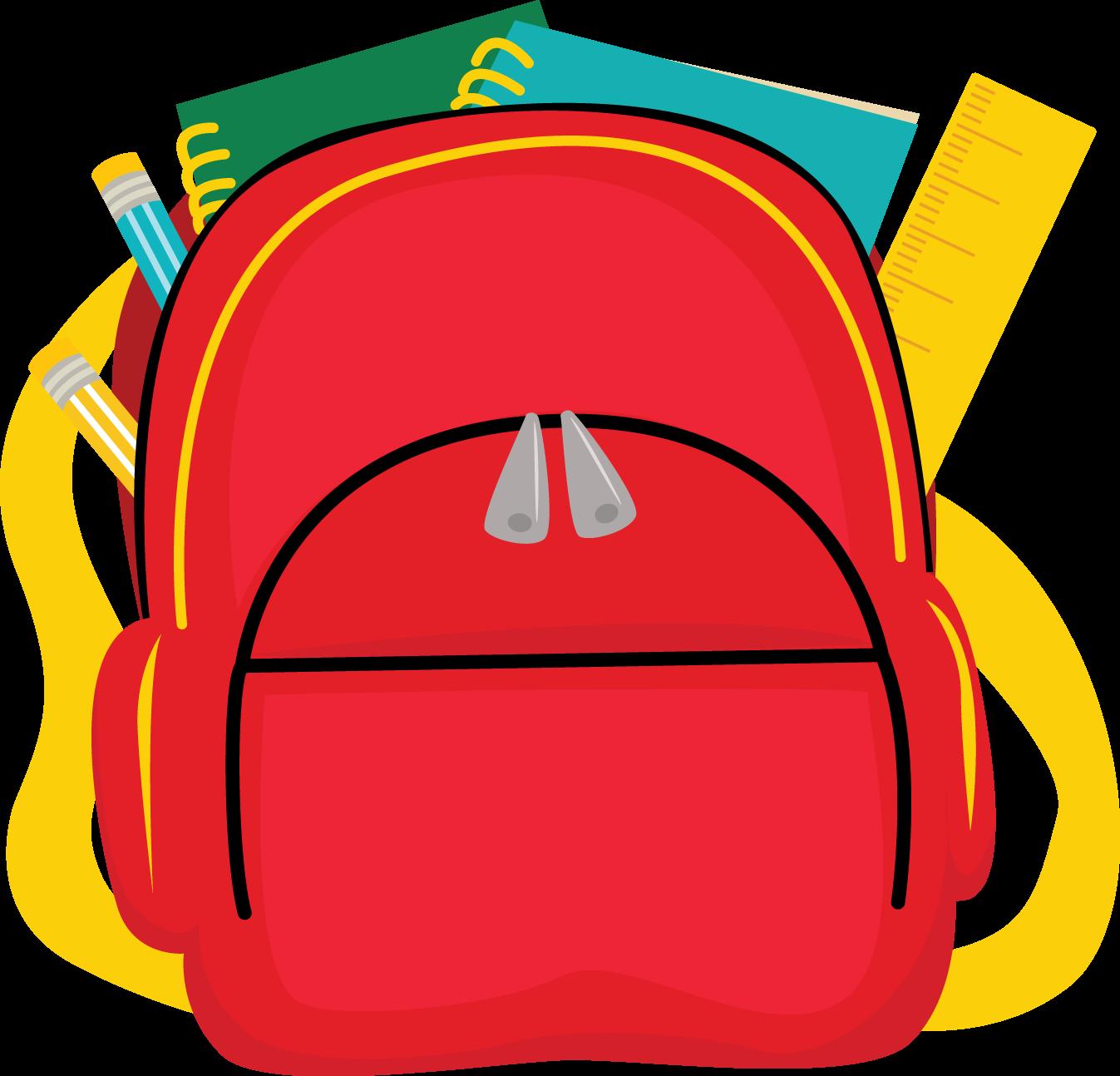 School backpack clip art. Bag clipart homework