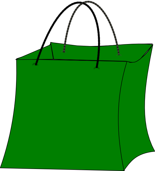 Green Gift Bag Clip Art at Clker