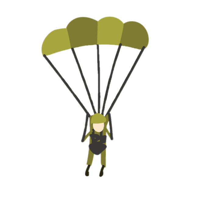 Militari stickers png military. Clipart backpack parachute