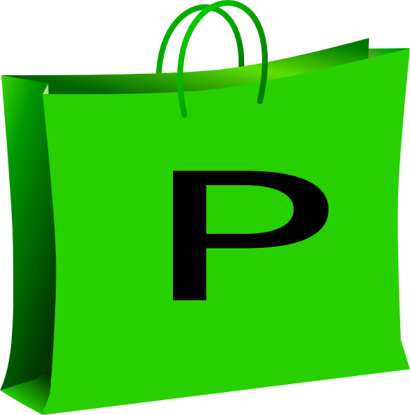Green bag for shopping. Clipart backpack red purse