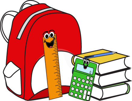 Clipart backpack school material. Pin by sean killeen