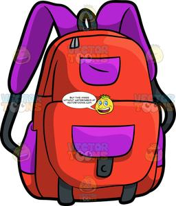 Clipart backpack school material. A