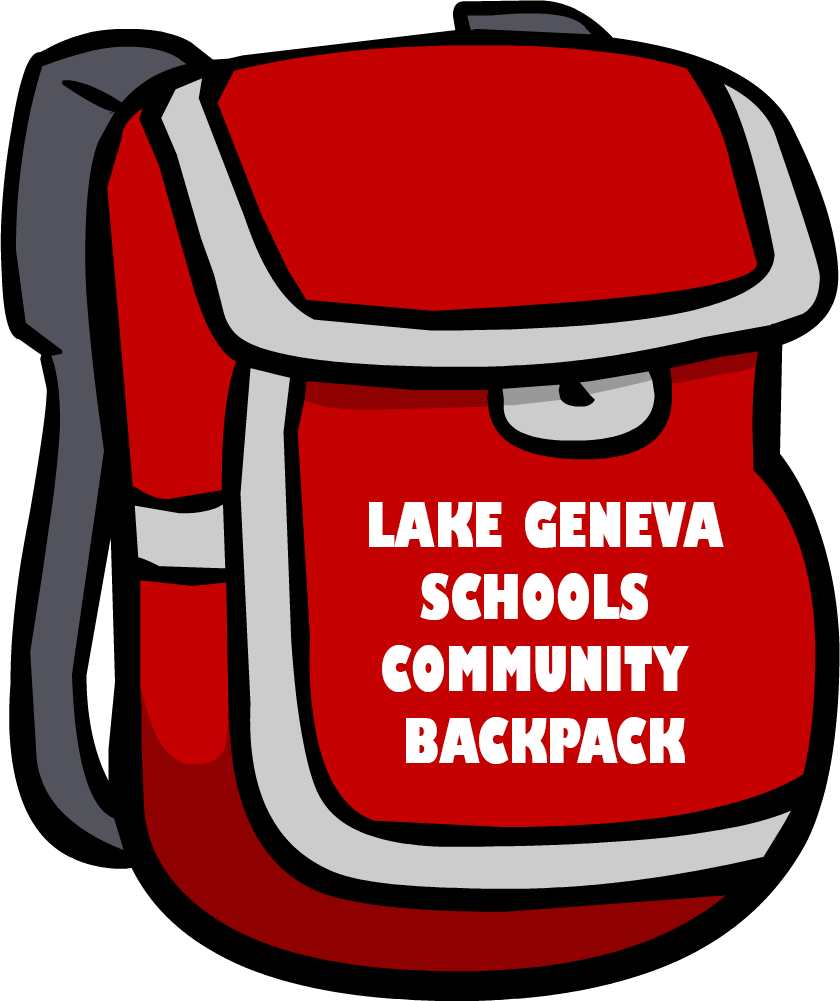Community lake geneva schools. Clipart backpack school tool