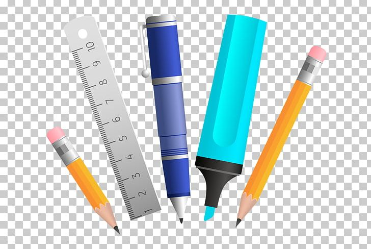School supplies png art. Clipart ruler stationary
