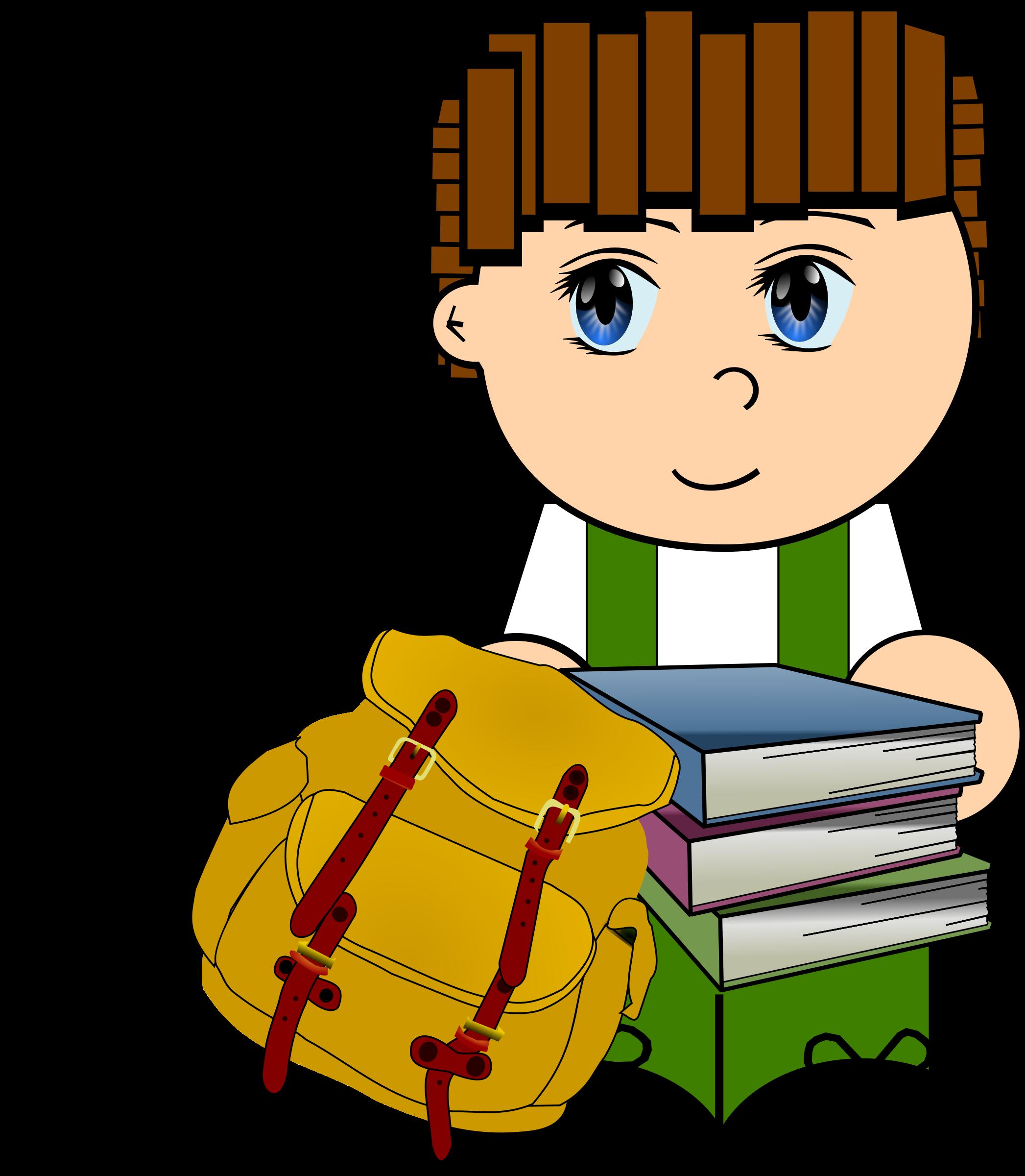 Clipart school boy. Cartoon schoolboy big image