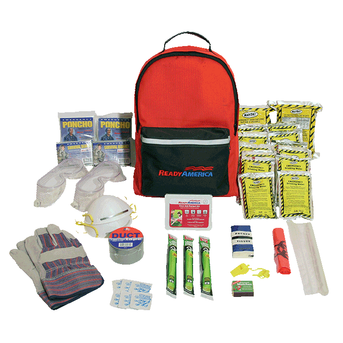clipart backpack survival kit #61899111
