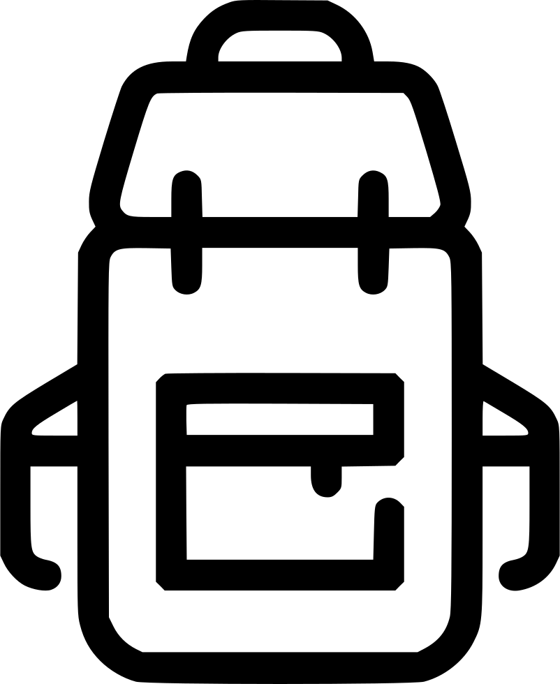 Png icon free download. Clipart backpack svg