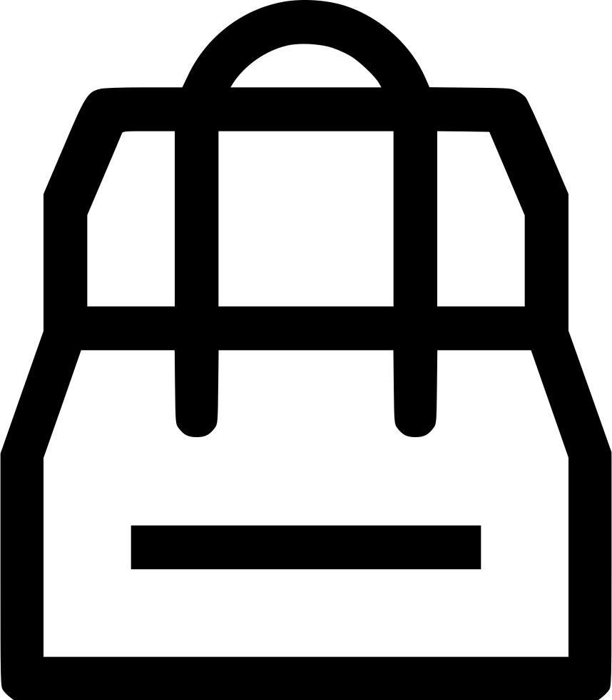 Goods png icon free. Clipart backpack svg
