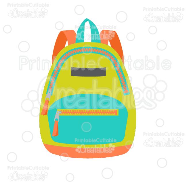 Zipper clipart file. School backpack svg cut