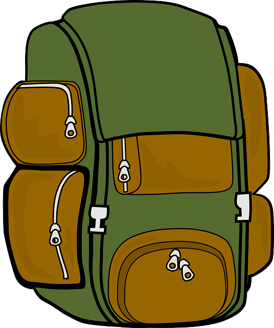 Top backpacks for camping. Backpack clipart safari
