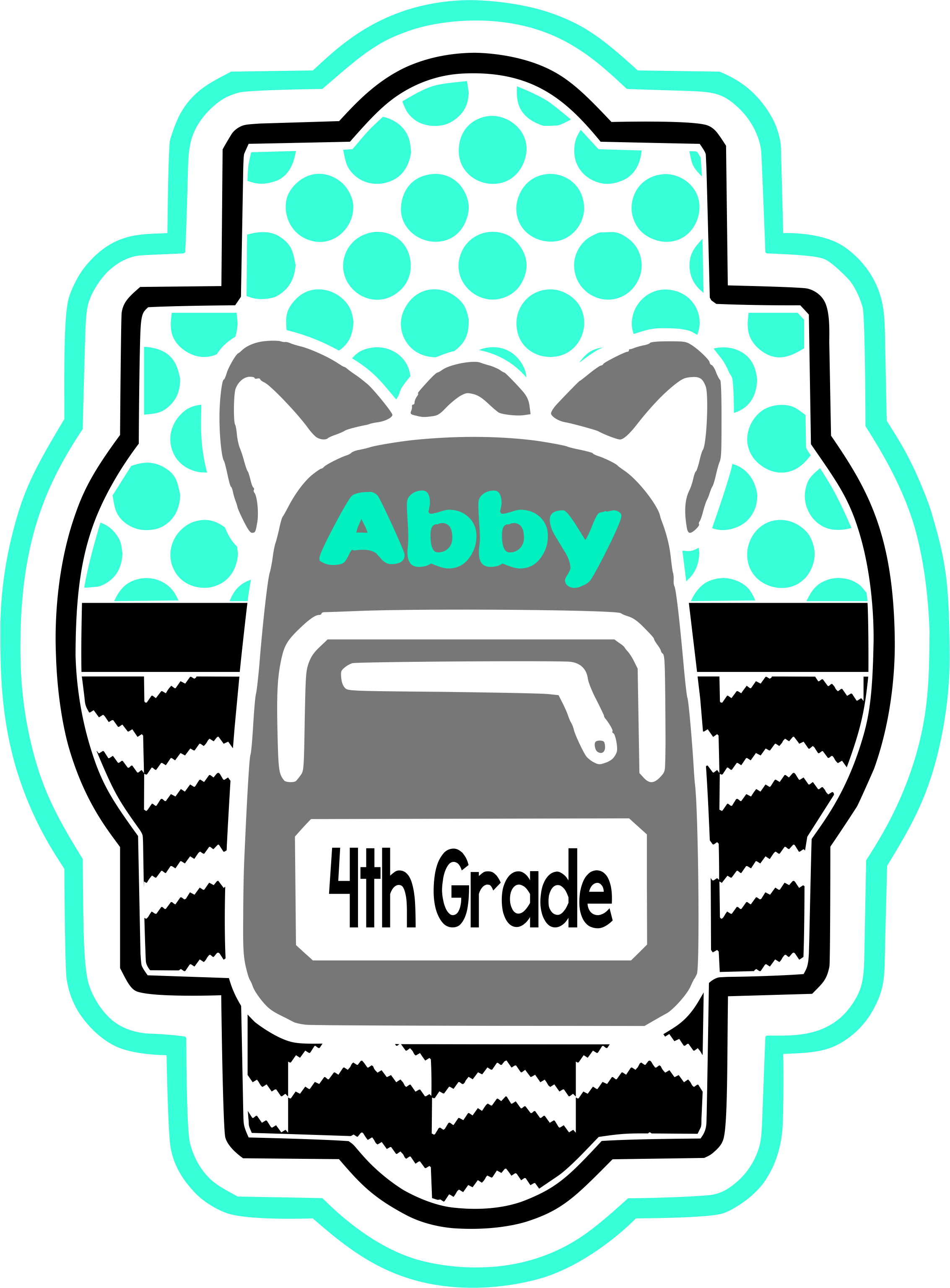 Pattern th grade craft. Clipart backpack unzip