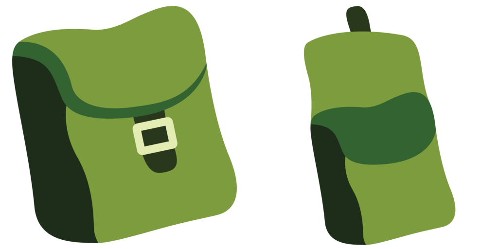 Bags resource by rainbowderp. Clipart backpack vector