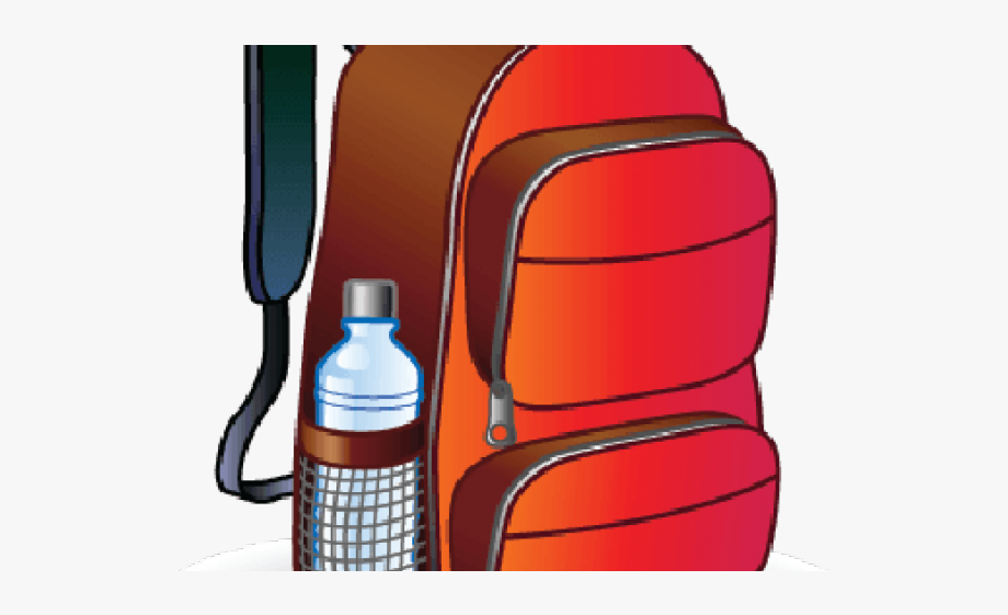 Pink source with . Clipart backpack water bottle