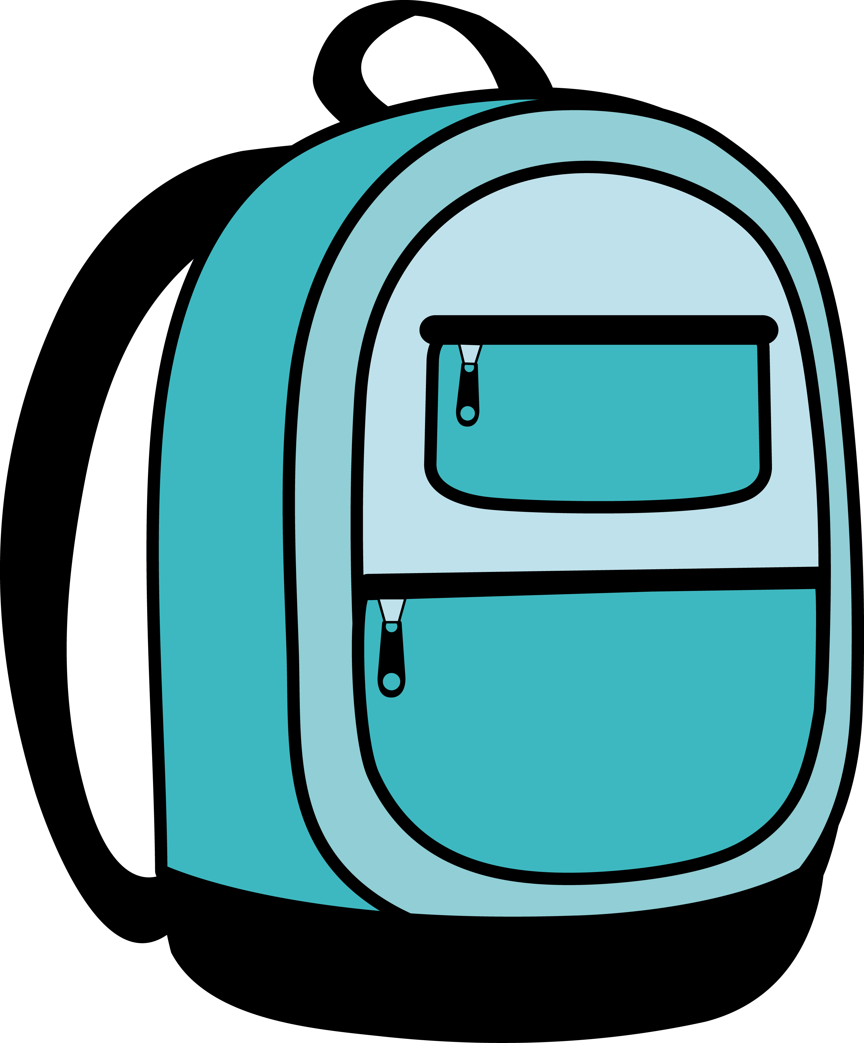 Clipart backpack. School panda free images