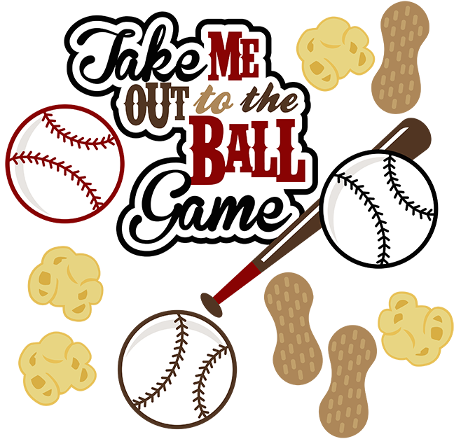 Scrapbook clipart sport. Take me out to