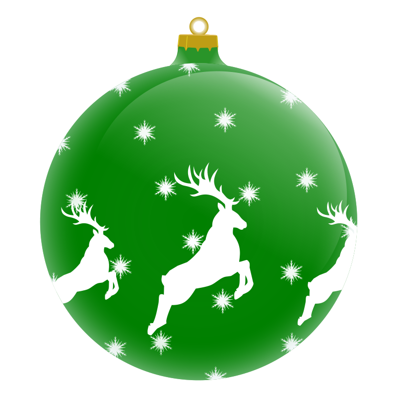 collection of tree. Clipart christmas bauble