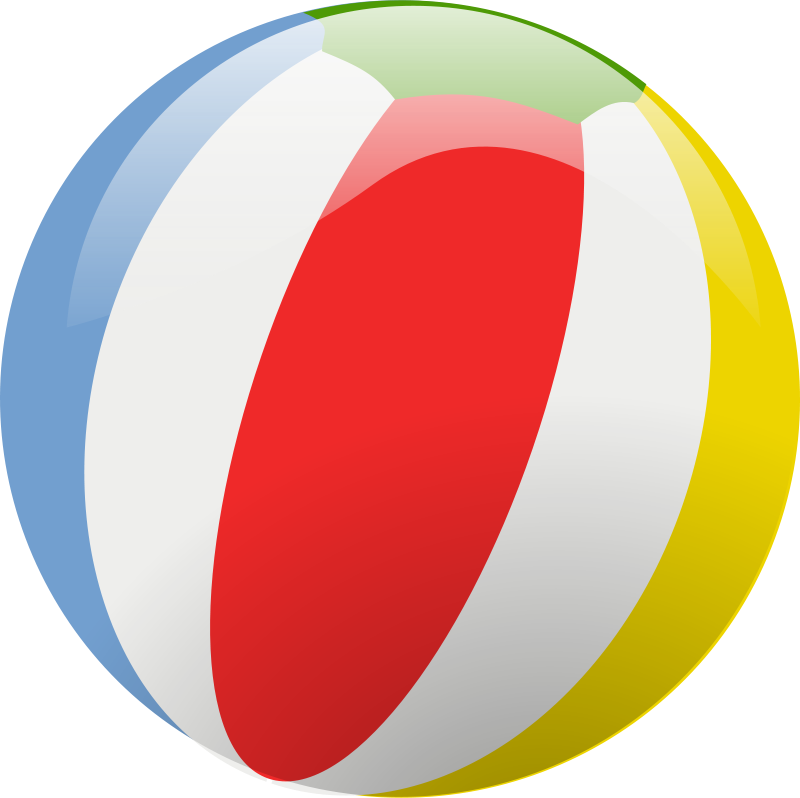 Clothespin clipart colored. Beach ball by rg