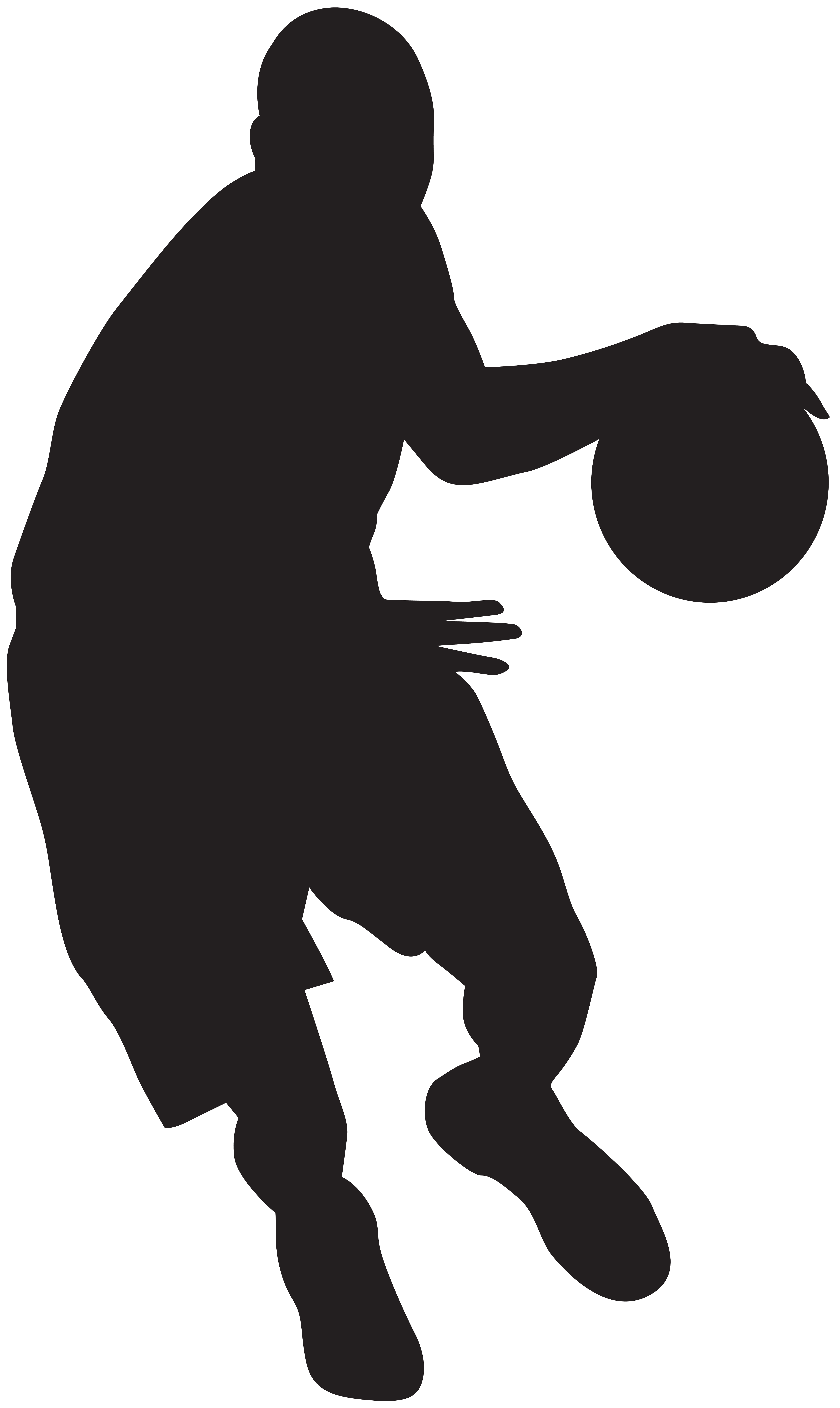 Clipart boy basketball player. Silhouette at getdrawings com