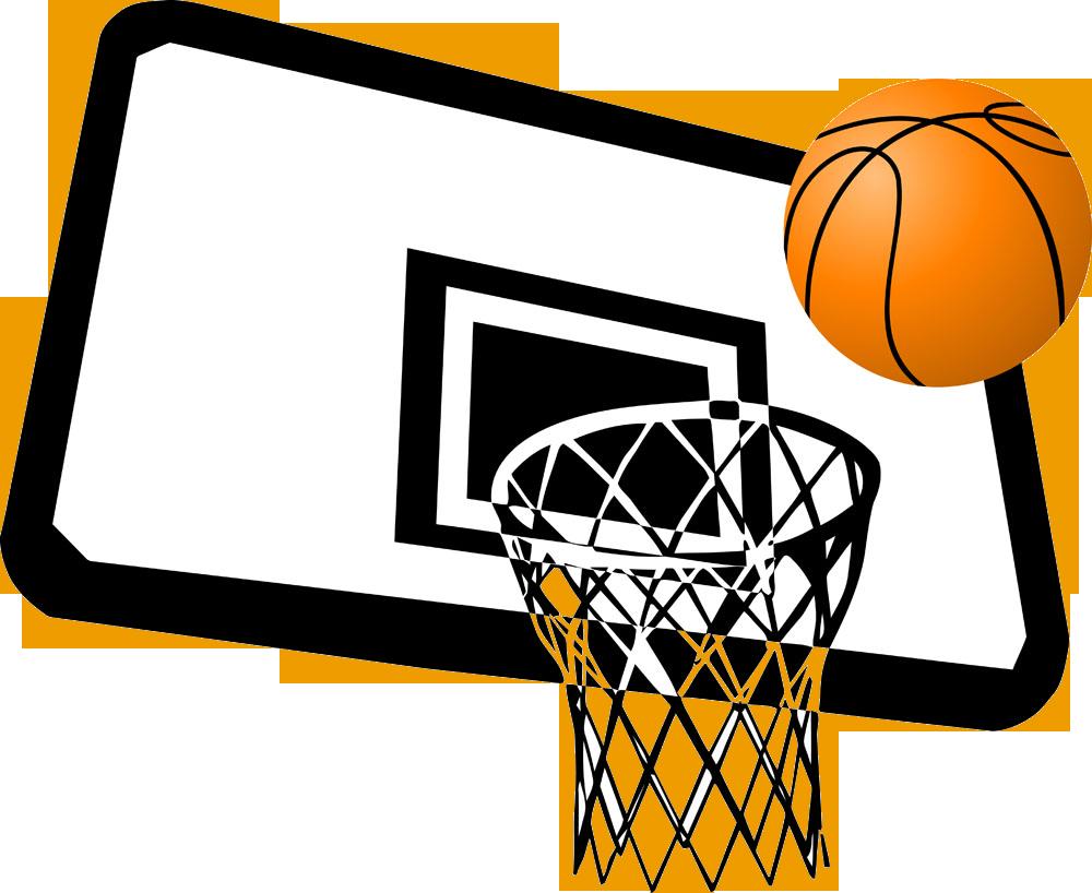 Basketball slam dunk clip. Court clipart covered court