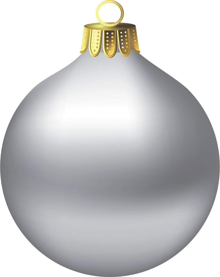 Clipart christmas bauble. Transparent silver ornament gallery