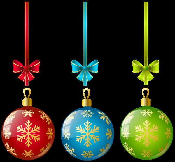 Large transparent three ball. Holidays clipart christmas