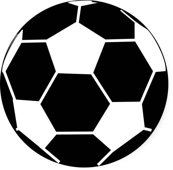 Ball black and white. Lace clipart football