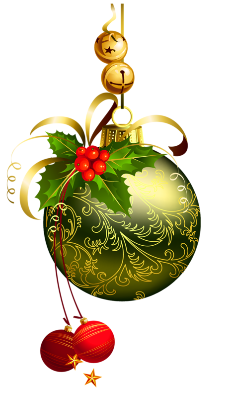 Green transparent ball with. Hot clipart christmas